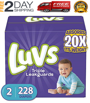 Diapers Size 2, 228 Count - Luvs Triple Leakguards Disposable Baby Diapers