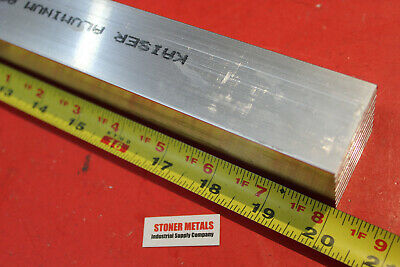 "1-1/2"" X 1-1/2"" ALUMINUM SQUARE 6061 T6511 20"" Long SOLID EXTRUDED FLAT BAR"