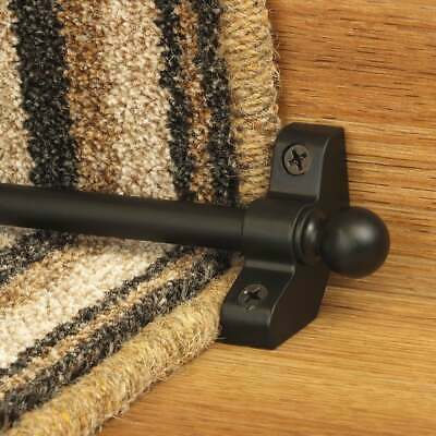 Black 76cm long Hollow Cheap High Quality Stair Rod - pack of 3