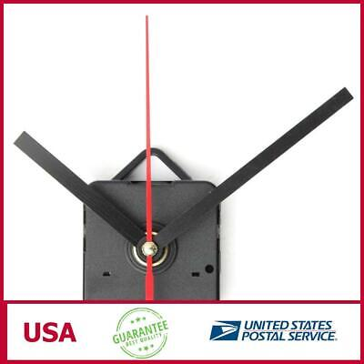 Black & Red Hands DIY Quartz Wall Clock Movement Mechanism
