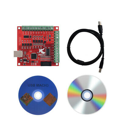 4 Axis Interface Driver Motion USB CNC MACH3 100Khz Breakout Board Controller