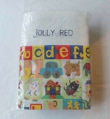 Vintage Jolly Red Alphabet Tapestry Kit. Sampler Style. Anchor Wool. New, Unused