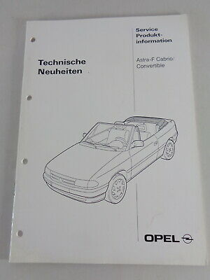 Informations Techniques / Fahrzeugvorstellung Opel Astra F Cabriolet Support 03/
