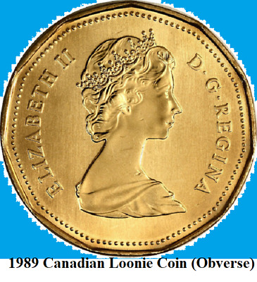 1989 Canada PROOF-LIKE/SPECIMEN One Dollar Coin. (UNC. Canadian Loonie 1 $)