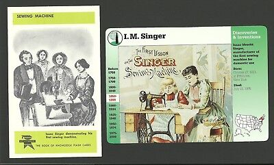 Isaac Singer Sewing Machine Inventor Fab Card Collection
