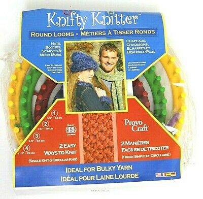 Knifty Knitter Round Loom Series Provo Craft Set Brand New
