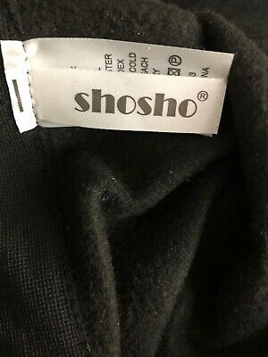 Shosho Youth Girls Size L/XL (14-16) Black Leggings New Stretchy Ankle Length