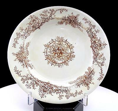 "E M & Co Edge Malkin Geneva Aesthetic Period Brown 7 5/8"" Side Plate 1891-1903"
