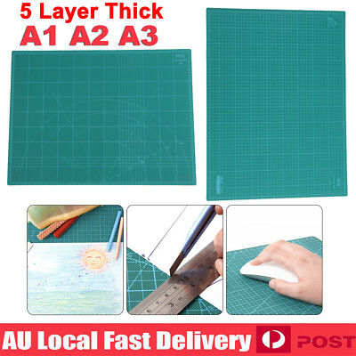 A1 A2 A3 5-Ply Self Healing Cutting Mat Craft DIY Grid Lines 2 Side Thick PVC #