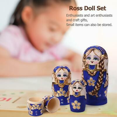 7pcs Wooden Russian Matryoshka Art Craft Girl Nesting Doll Children Birthday Toy