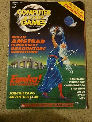 Computer and Video Games Magazine April 1985 Deathstar Exclusive