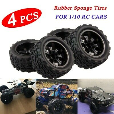 4Pcs//Set 1//10  Truck Tire Tyres for Traxxas HSP Tamiya HPI Kyosho RC K6N2