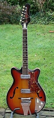 Vntage semi Hollowbody Guitar, Made in Japan Vintage 60´s MIT VIBRATO HEBEL