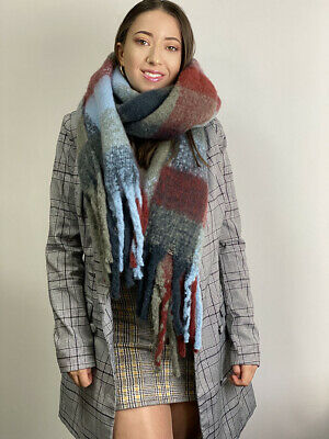 2020 NEW Oversized Scarf Plaid Design Warm for Women Checked Shaw Scarves Warm