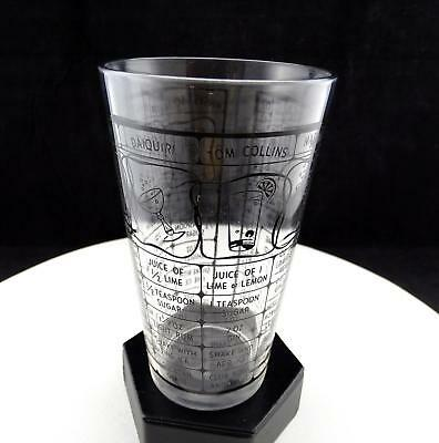 """Irvineware Style 12 Ounce 7 Recipe Clear Glass 6"""" Cocktail Shaker"""