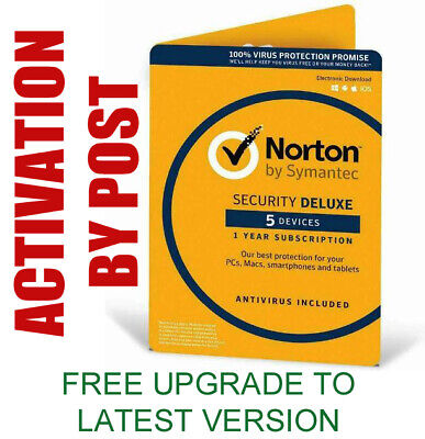 Norton Internet Security Deluxe 2020 Antivirus 5 Devices/ 1 Year PC, Mac Licence