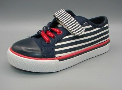 """""""BRILL HOP INF"""" Clark's Girls Navy Combi Synthetic Shoes size UK 10.5 G."""