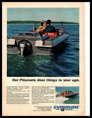 1953 Evinrude Boat Motor Pin Up Girl Ad Featured on Collector/'s Envelope *A541
