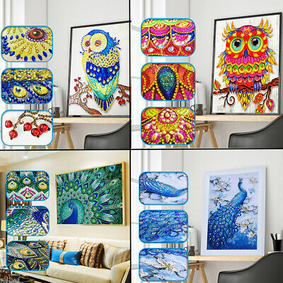 Decor Butterfly Special Shaped Drill 5D Diamond Painting Rhinestone Peacock Owl