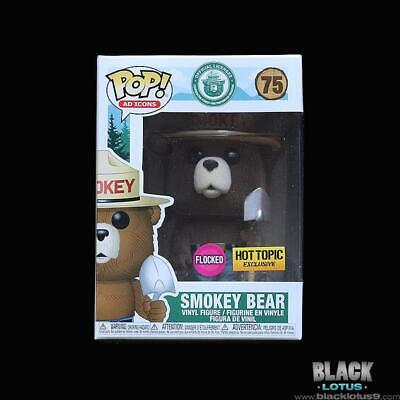 Funko Pop! Flocked Smokey Bear Ad Icons Hot Topic Exclusive IN STOCK Pop 75