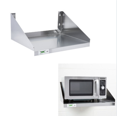 """24"""" x 18"""" Stainless Steel Commercial Restaurant Wall Mount Microwave Shelf Stand"""