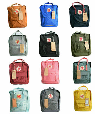 Fjallraven Kanken Backpack School 7/16/20L Waterproof  Handbag Sport Travel Bag