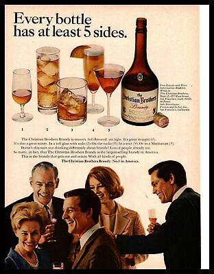 "1966 Christian Brothers Brandy San Francisco ""Every Bottle Has 5 Sides"" Print Ad"