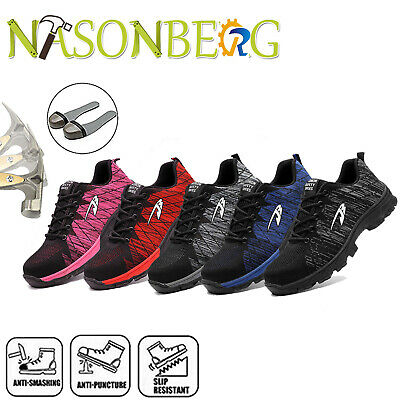 Mens Safety Shoes Mesh Steel Toe Indestructible Work Cap Boots Hiking Trainers