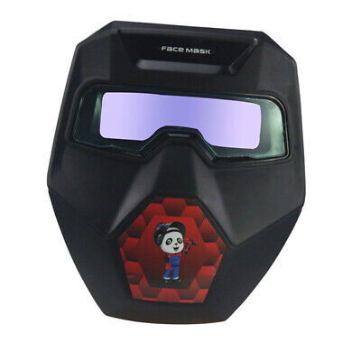 Solar Powered Auto Darkening Welding Mask w/ Goggles Welding Glasses Adjustable
