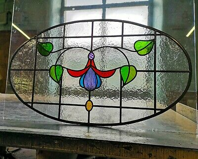 1930s design Traditional Stained Glass fanlight window, made to measure