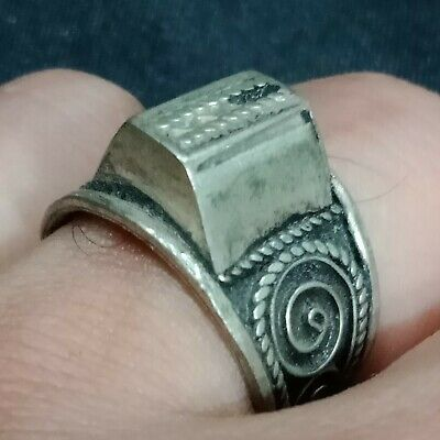** LEGIO X **Ancient Legionary Silver Roman Ring **AMAZING ** RARE **