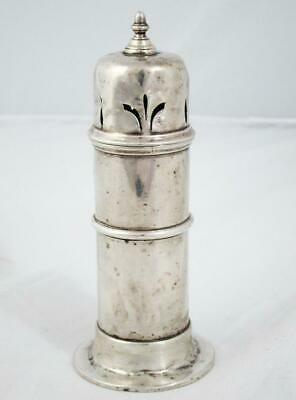 Fine Antique Sterling Silver Muffineer Sugar Castor Sifter Shaker 1904