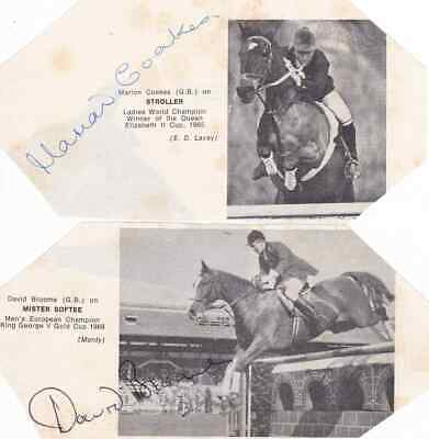 DAVID BROOME & MARION COAKES - Show Jumping - SIGNED ALBUM PAGES - AFTAL/UACC RD