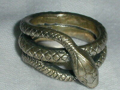Vintage Mfa Sterling Textured Snake Ring- Size 5!