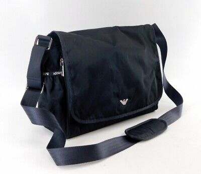 Emporio Armani Techno Fabric Baby Changing Bag With Bottle Holder Navy Reg $260