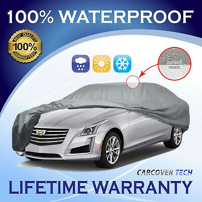 100% Waterproof/All Weatherproof Full Car Cover For Cadilac CTS [2002-2019]