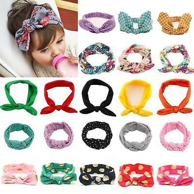 Girls Baby Turban Knot Bow Headband Cute Hair Band Headwear Head Wrap Accessory