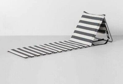 Travel Beach Lounge Mat Stripe - Gray / White - Hearth & Hand with Magnolia