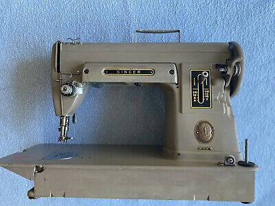 SINGER # 301A steel featherweight sewing machine. -untested