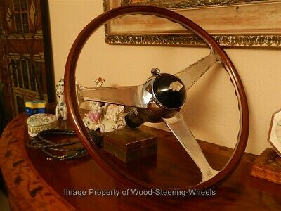 "Jaguar xk120  xk 120 Wood Steering Wheel NARDI 16"" ORIGINAL Vintage +65 Pictures"