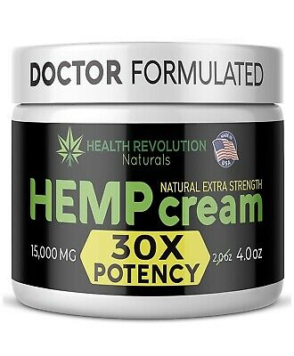 Extra Strength Hemp Cream for Pain Relief – Only 3rd Party Tested Product To V