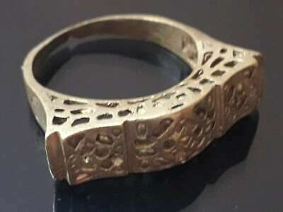 Rare Ancient Bronze Ring Old Jewelry Antique Viking Unique Fabulous Quality
