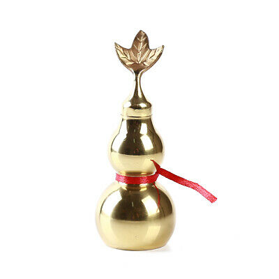 Exorcism Blessing Home Decor Hanging Feng Shui Lucky Gourd Calabash Brass Gift