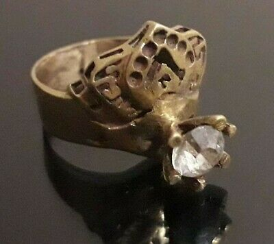 Ancient Wedding Bronze Ring Artifact Old Collection Stunning Jewelry Quality
