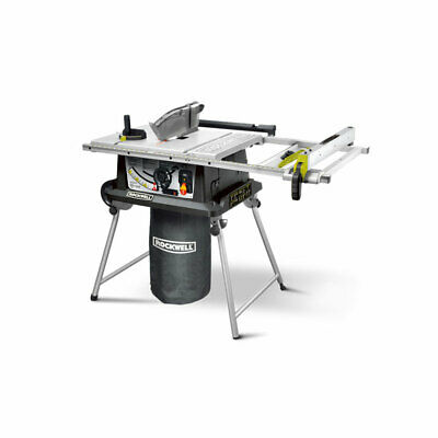 Rockwell RK7241S 15 AMP 10 Inch Folding Portable Jobsite Table Saw with Laser