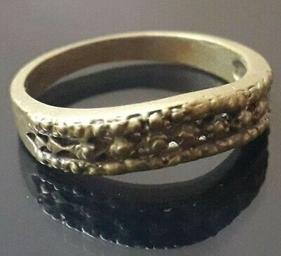 Artifact Roman Legionary Design Bronze Finger Ring Very Rare Ancient Jewelry
