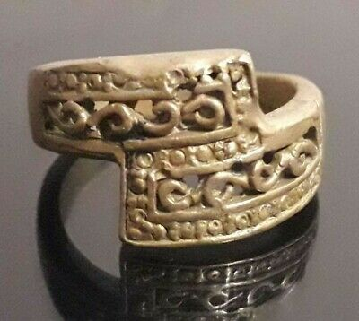 Stunning Ancient Bronze Ring Roman Legionary Design Old Quality