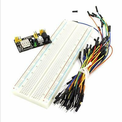 New MB-102 Solderless Breadboard Protoboard 830 Tie Points 2 buses Test Circuit