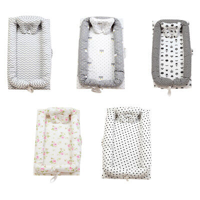 Cotton Baby Bassinet Crib Cocoon Infant Baby Cot Snuggle Bed Lounger Soft