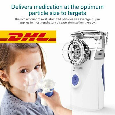 Inhalator Vernebler Nano Inhalationsgerät Ultraschall Kit für Kinder Tragbar TOP